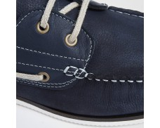 Leather Boat Shoes - Navy