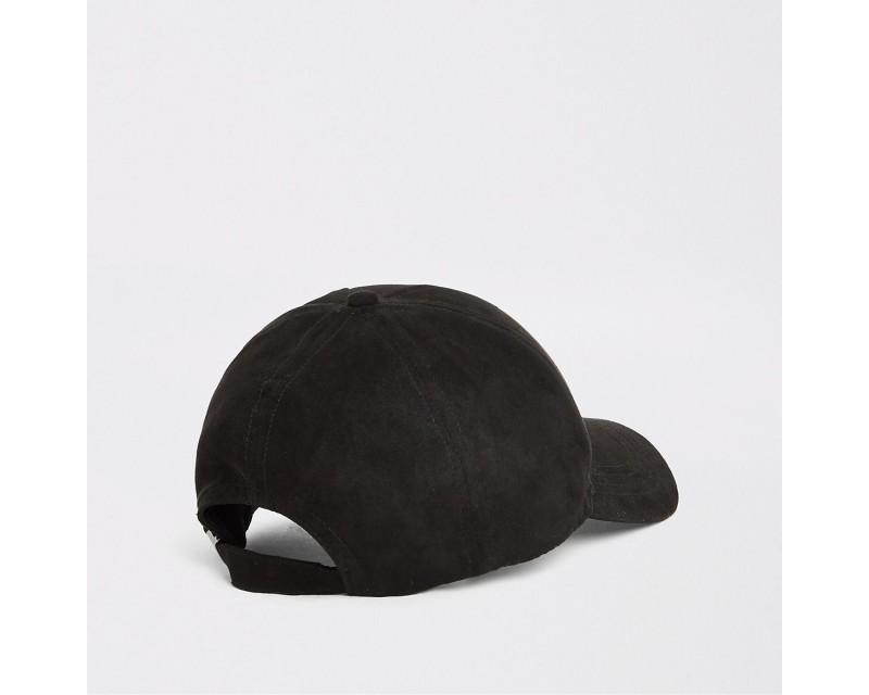 Black Faux Suede Hat