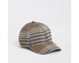 Brown Plaid Baseball Cap