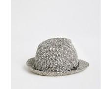 Maroon Twisted Straw Hat