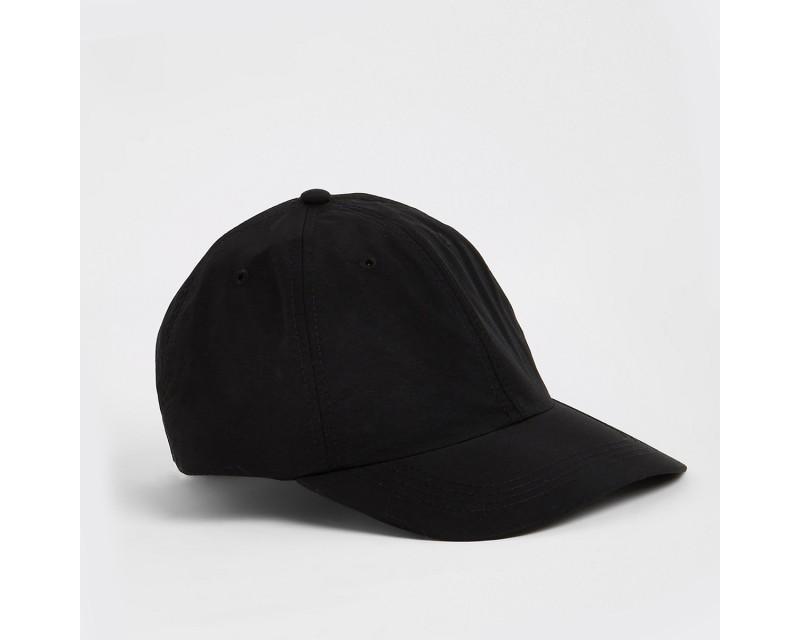 Black clip-on baseball cap