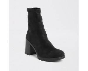 Black High Heeled Sock Boots