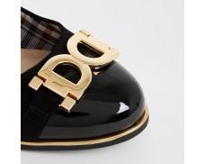 Black Fork Wide Ballet Shoes