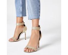 Golden Diamond Buckle Loafer Sandals