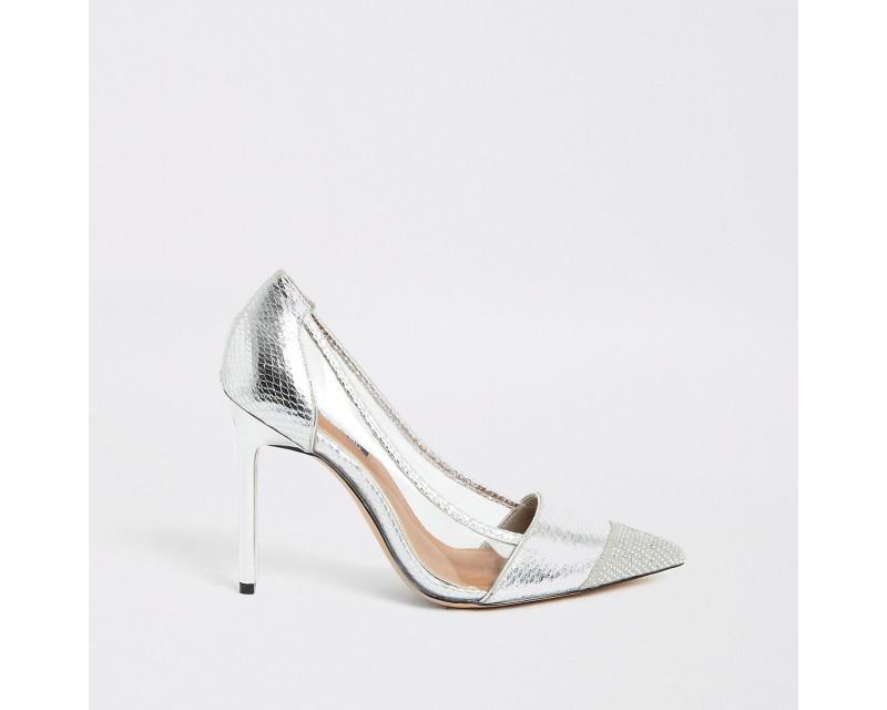 Silver Embossed High Heels *3