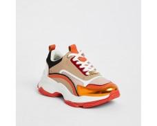 Orange Block Short Sneakers *3