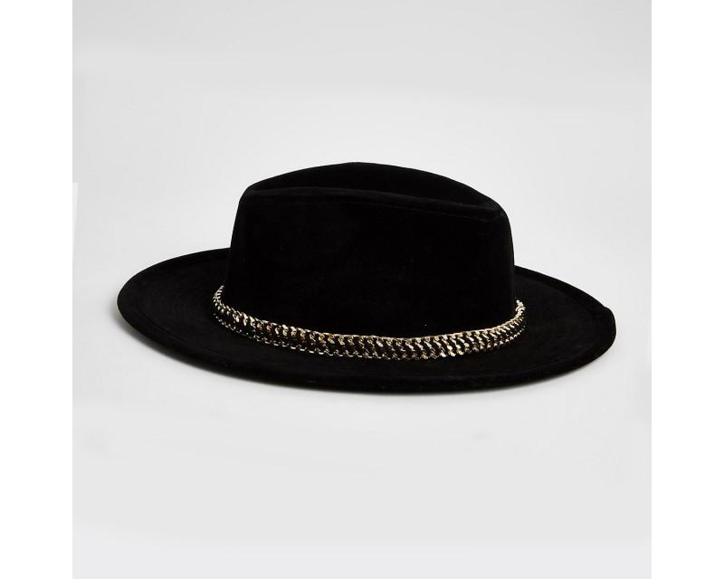 Black Chain Decorative Hat