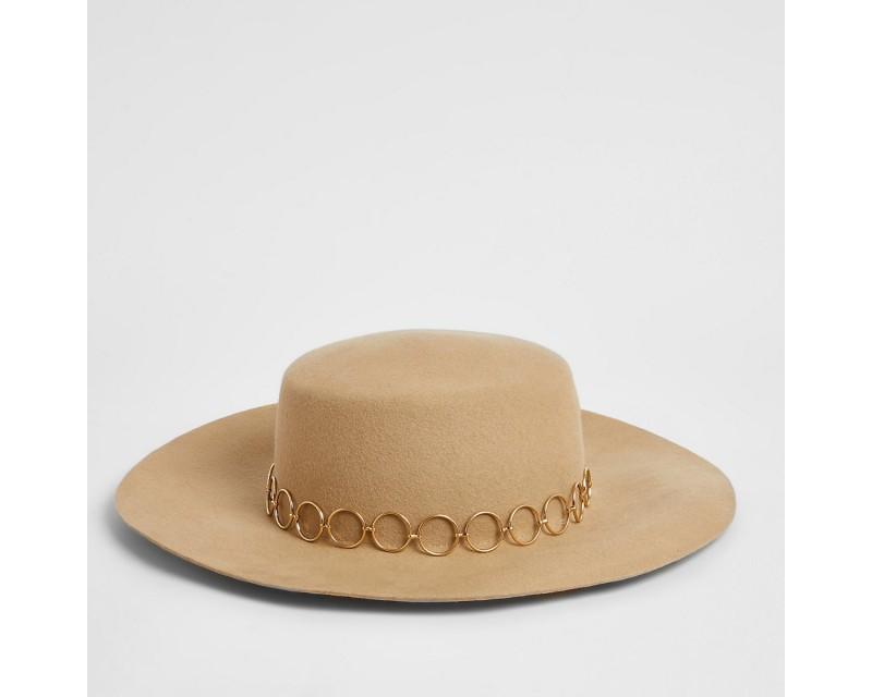 Beige Chain Cap